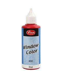Window Color, rood, 80 ml/ 1 fles