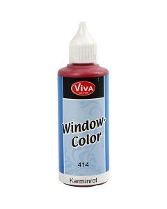 Window Color, karmijnrood, 80 ml/ 1 fles