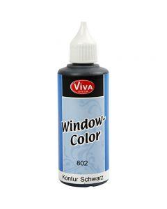 Window Color Contour, zwart, 80 ml/ 1 fles