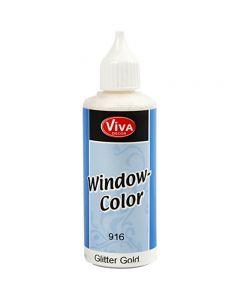 Window Color, goud glitter, 80 ml/ 1 fles