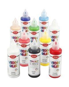 Window Color, diverse kleuren, 10x90 ml/ 1 doos