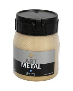 Art Metal verf, licht goud, 250 ml/ 1 fles