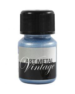 Art Metal verf, Parelmoer blauw, 30 ml/ 1 fles