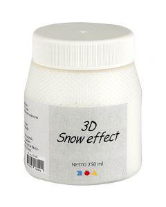 3D Sneeuw Pasta, wit, 250 ml/ 1 Doosje