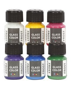 Glass Color Frost, diverse kleuren, 6x30 ml/ 1 doos