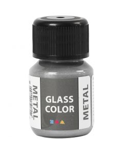 Glass Color Metal, zilver, 30 ml/ 1 fles