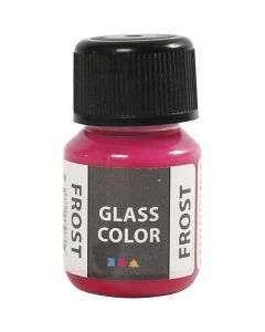 Glass Color Frost, rood, 30 ml/ 1 fles