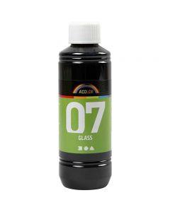 A-Color Glass, zwart, 250 ml/ 1 fles