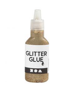 Glitterlijm, goud, 25 ml/ 1 fles