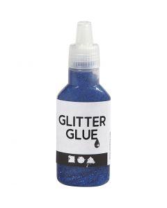 Glitterlijm, donkerblauw, 25 ml/ 1 fles