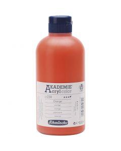 Schmincke AKADEMIE® Acryl color , semi-transparant, orange (230), 500 ml/ 1 fles