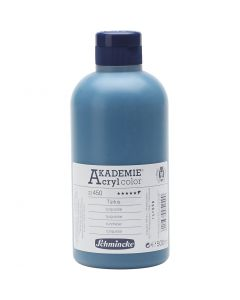 Schmincke AKADEMIE® Acryl color , semi-transparant, turquoise (450), 500 ml/ 1 fles