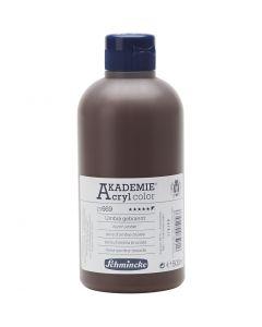 Schmincke AKADEMIE® Acryl color , dekkend, burnt umber (669), 500 ml/ 1 fles