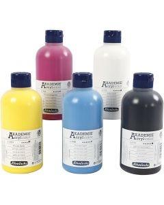Schmincke AKADEMIE® Acryl color , 5x500 ml/ 1 doos