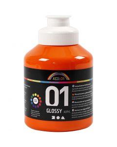A-Color acrylverf, glossy, oranje, 500 ml/ 1 fles