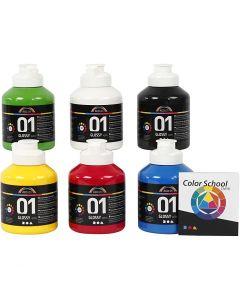 A-Color acrylverf, glossy, primair kleuren, 6x500 ml/ 1 doos