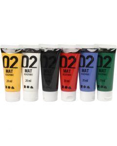 A-Color acrylverf, matt, standaardkleuren, 6x20 ml/ 1 doos