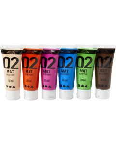 A-Color acrylverf, matt, extra kleuren, 6x20 ml/ 1 doos