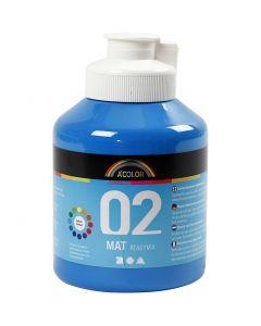 A-Color acrylverf, matt, primair blauw, 500 ml/ 1 fles
