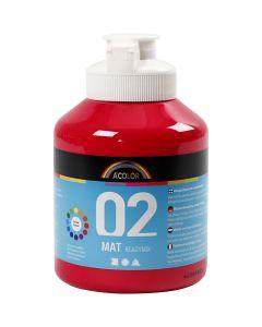 A-Color acrylverf, matt, primair rood, 500 ml/ 1 fles