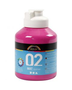 A-Color acrylverf, matt, roze, 500 ml/ 1 fles