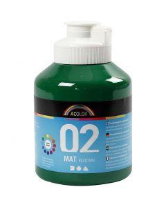 A-Color acrylverf, matt, donkergroen, 500 ml/ 1 fles