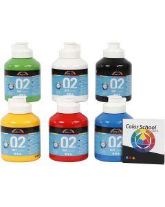 A-Color acrylverf, matt, primair kleuren, 6x500 ml/ 1 doos