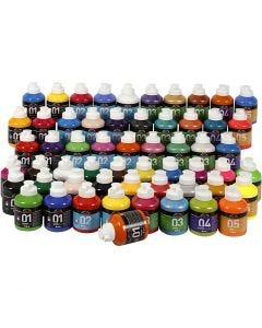 A-Color acrylverf, diverse kleuren, 57x500 ml/ 1 doos