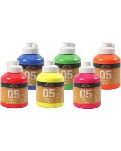 A-Color acrylverf, neon kleuren, 6x500 ml/ 1 karton