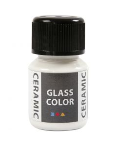 Glas Keramiek verf, wit, 35 ml/ 1 fles