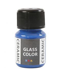 Glas Keramiek verf, brilliant blauw, 35 ml/ 1 fles