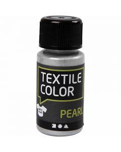 Textile Color, parelmoer, zilver, 50 ml/ 1 fles