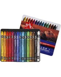 Neocolor I, L: 10 cm, dikte 8 mm, diverse kleuren, 15 stuk/ 1 doos