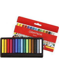 Neocolor I, L: 5 cm, dikte 8 mm, diverse kleuren, 15 stuk/ 1 doos