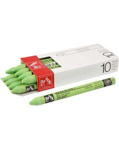 Neocolor I, L: 10 cm, dikte 8 mm, yellow green (230), 10 stuk/ 1 doos