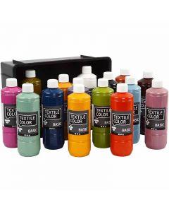 Textile Color, diverse kleuren, 15x500 ml/ 1 doos