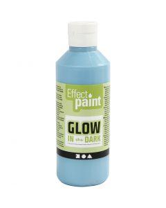 Glow in the dark, fluorescerende lichtblauw, 250 ml/ 1 fles