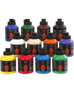 Pigment Art School, standaardkleuren, 12x500 ml/ 1 karton