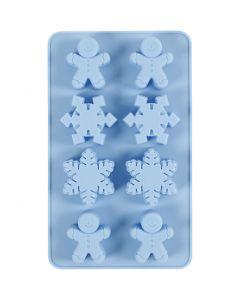 Silicone vormen, H: 2,5 cm, L: 24 cm, B: 14 cm, gatgrootte 30x45 mm, 12,5 ml, 1 stuk/ 1 doos