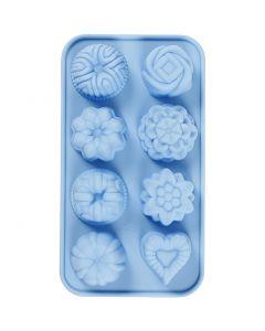 Silicone vormen, cakejes, gatgrootte 40x45 mm, 25 ml, 1 stuk