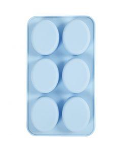 Silicone vormen, H: 2,5 cm, L: 28 cm, B: 16 cm, gatgrootte 7,8 x 6,1 cm, 100 ml, 1 stuk