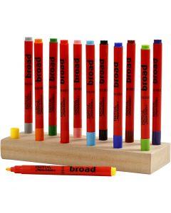 Berol stift, d: 10 mm, lijndikte 1-1,7 mm, diverse kleuren, 12 stuk/ 1 doos