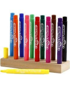 Colortime stift, lijndikte 5 mm, diverse kleuren, 12 stuk/ 1 doos