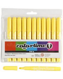 Colortime stift, lijndikte 5 mm, citroengeel, 12 stuk/ 1 doos