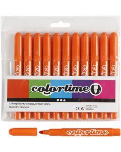 Colortime stift, lijndikte 5 mm, oranje, 12 stuk/ 1 doos