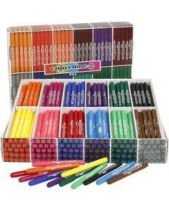 Colortime stift, lijndikte 5 mm, diverse kleuren, 576 stuk/ 1 doos