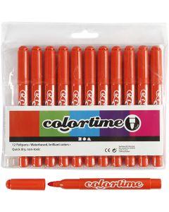 Colortime stift, lijndikte 5 mm, donkeroranje, 12 stuk/ 1 doos