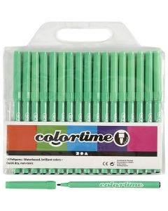 Colortime stift, lijndikte 2 mm, lichtgroen, 18 stuk/ 1 doos