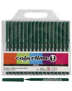 Colortime stift, lijndikte 2 mm, donkergroen, 18 stuk/ 1 doos