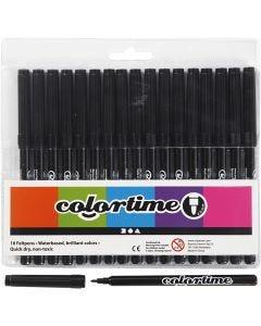 Colortime stift, lijndikte 2 mm, zwart, 18 stuk/ 1 doos
